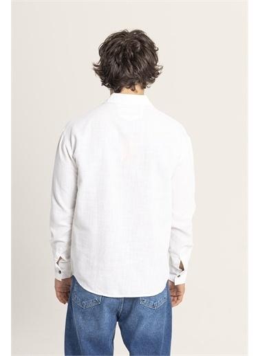 XHAN Siyah Tek Cepli Gömlek 1Kxe2-44812-02 Beyaz